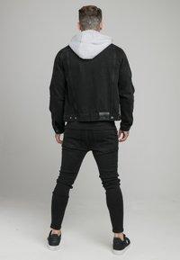 SIKSILK - JACKET WITH DETACHABLE HOOD - Džínová bunda - black - 2