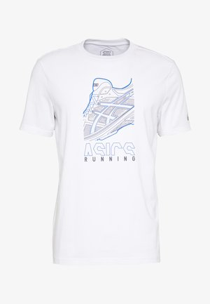 RUNNING GRAPHIC TEE - Print T-shirt - brilliant white