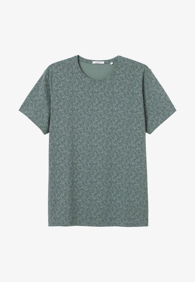 T-shirt med print - balsam green
