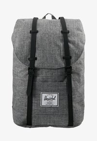 Herschel - RETREAT - Rucksack - raven crosshatch / black rubber - 6