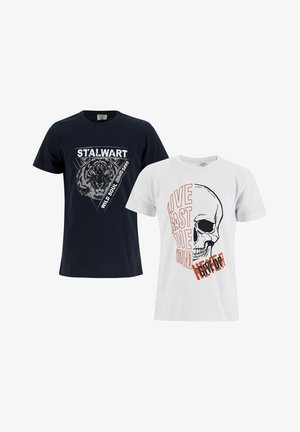 2 PACK - T-shirt con stampa - navy