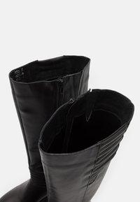Zign - Kozačky na platformě - black - 5