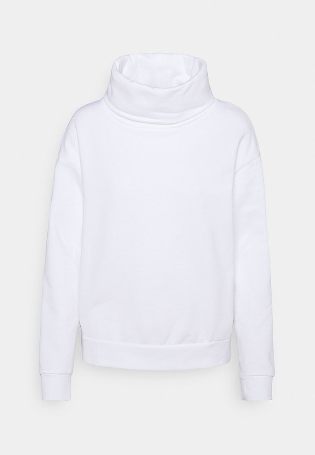 IVORY FUNNEL NECK - Sweatshirt - ivory