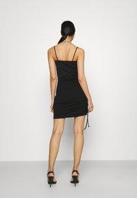 Even&Odd - Drawcord basic mini skirt - Pencil skirt - black - 3