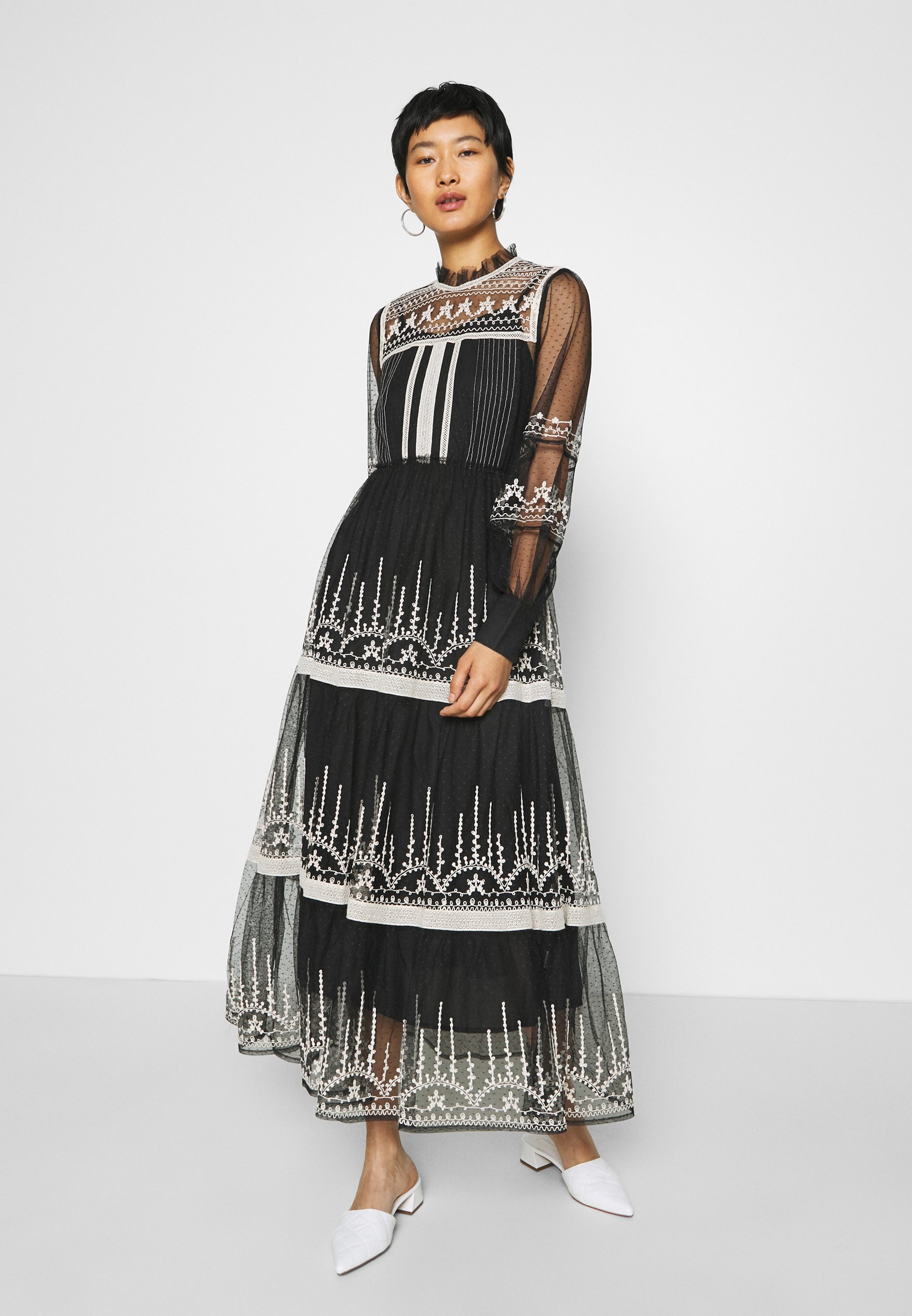 Derhy Faience Robe Maxi Dress Black Zalando Co Uk