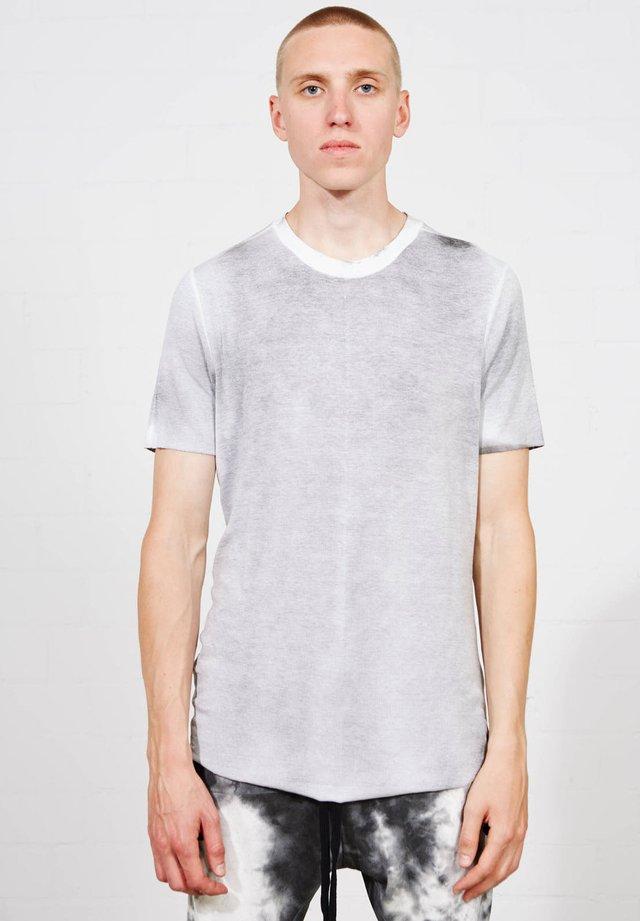 Basic T-shirt - weiss melliert