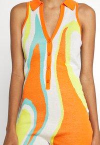 Jaded London - SLEEVELESS INTARSIA ROMPER ABSTRACT ART - Jumpsuit - orange/white/yellow/green - 4