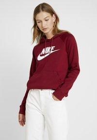 Nike Sportswear - HOODIE - Sweat à capuche - team red/white - 0