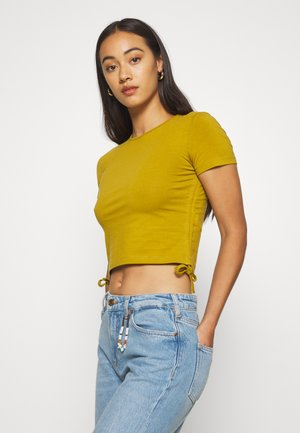 T-Shirt basic - ecru olive