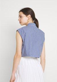 Monki - Button-down blouse - blue - 2