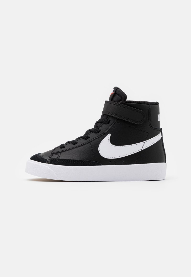 Nike Sportswear - BLAZER MID '77 UNISEX - Sneakers hoog - black/sail/white/total orange