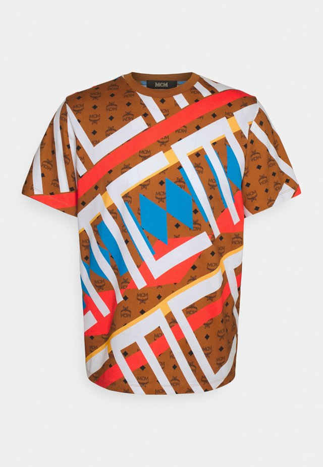 COLLECTION SHORT SLEEVES TEE - T-shirt imprimé - roasted pecan