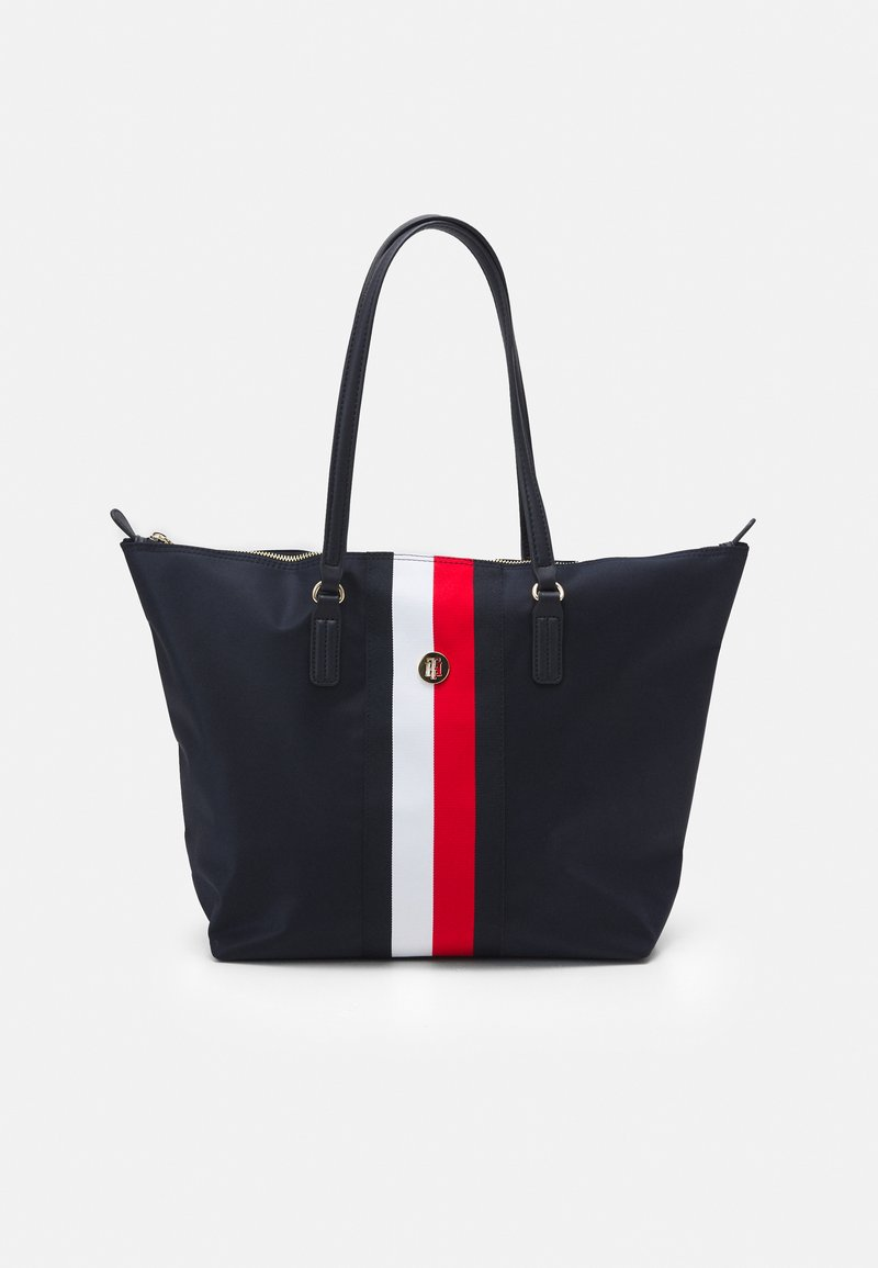 Tommy Hilfiger - POPPY TOTE CORP - Shopping bag - blue
