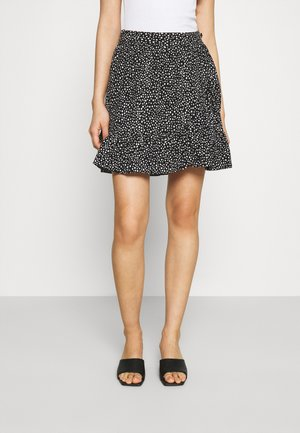 VMDICTHE SHORT WRAP SKIRT - Omslagsskjørt - black
