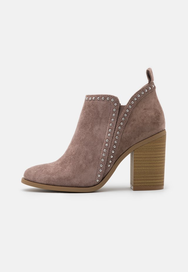 ECHO - Bottines à talons hauts - taupe