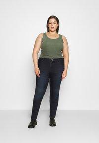 Zizzi - AMY SHAPE - Jeans Skinny Fit - dark blue denim - 1