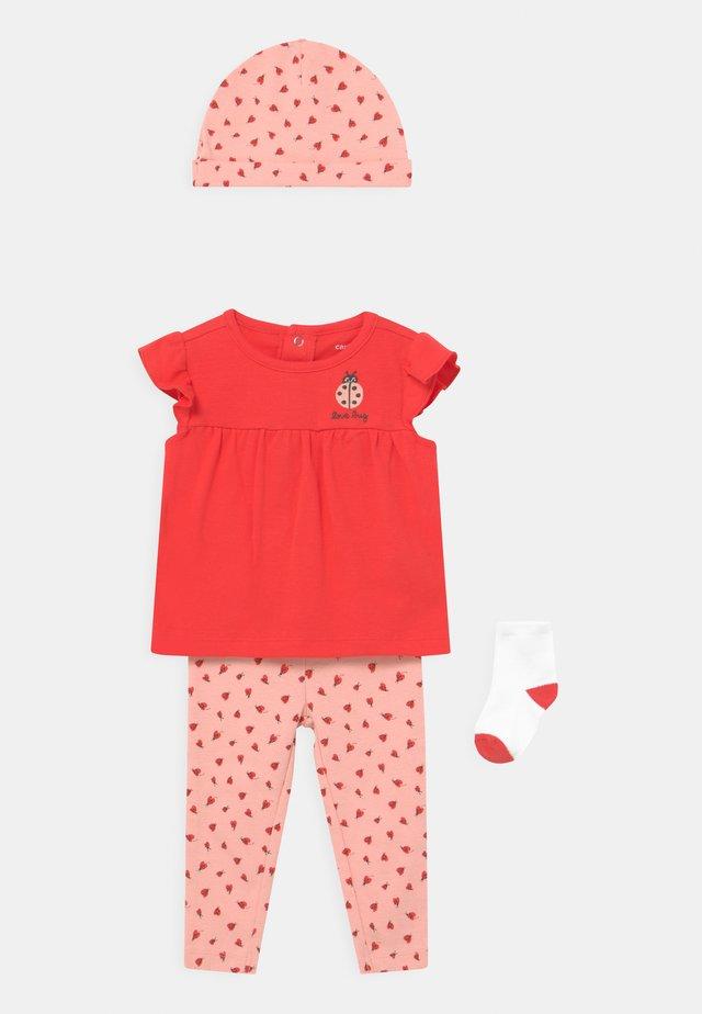 LADYBUG SET - T-shirt print - pink