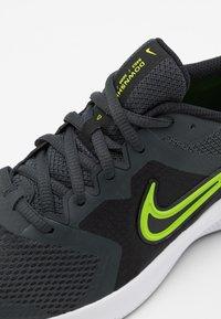 Nike Performance - DOWNSHIFTER 11 UNISEX - Neutral running shoes - dark smoke grey/volt/black/white - 5
