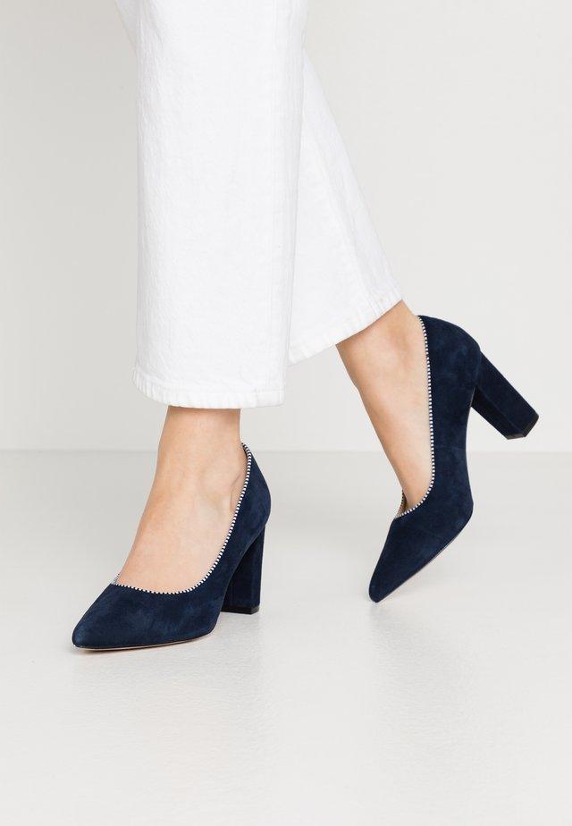 LEATHER PUMPS  - Classic heels - dark blue