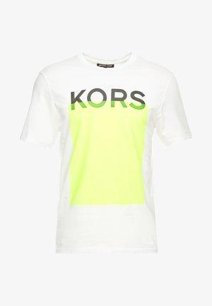 BLOCKED GRAPHIC - T-shirt print - white