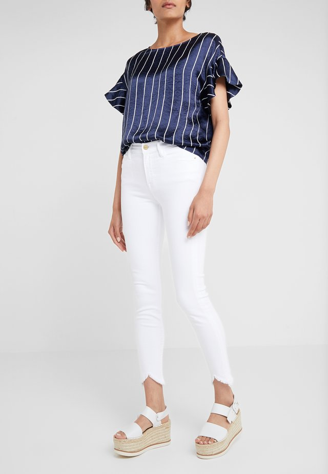 LE HIGH DOUBLE TRIANGLE - Jeans Skinny - blanc
