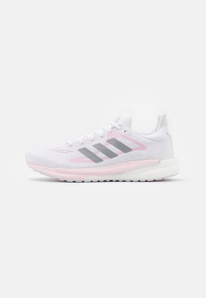 SOLAR GLIDE 3 - Chaussures de running neutres - footwear white/silver metallic/fresh candy