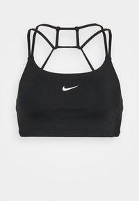 INDY BRA NON PAD - Light support sports bra - black/white