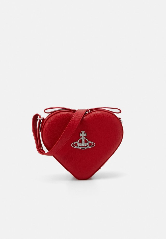 JOHANNA HEART CROSSBODY BAG - Across body bag - red