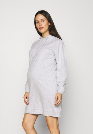 VMMOCTAVIA HOODIE DRESS - Jurk - light grey melange