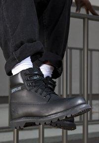 Cat Footwear - COLORADO - Šněrovací kotníkové boty - all black - 3