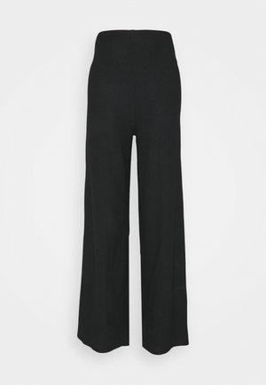 WIDE LEG TROUSER - Kalhoty - black
