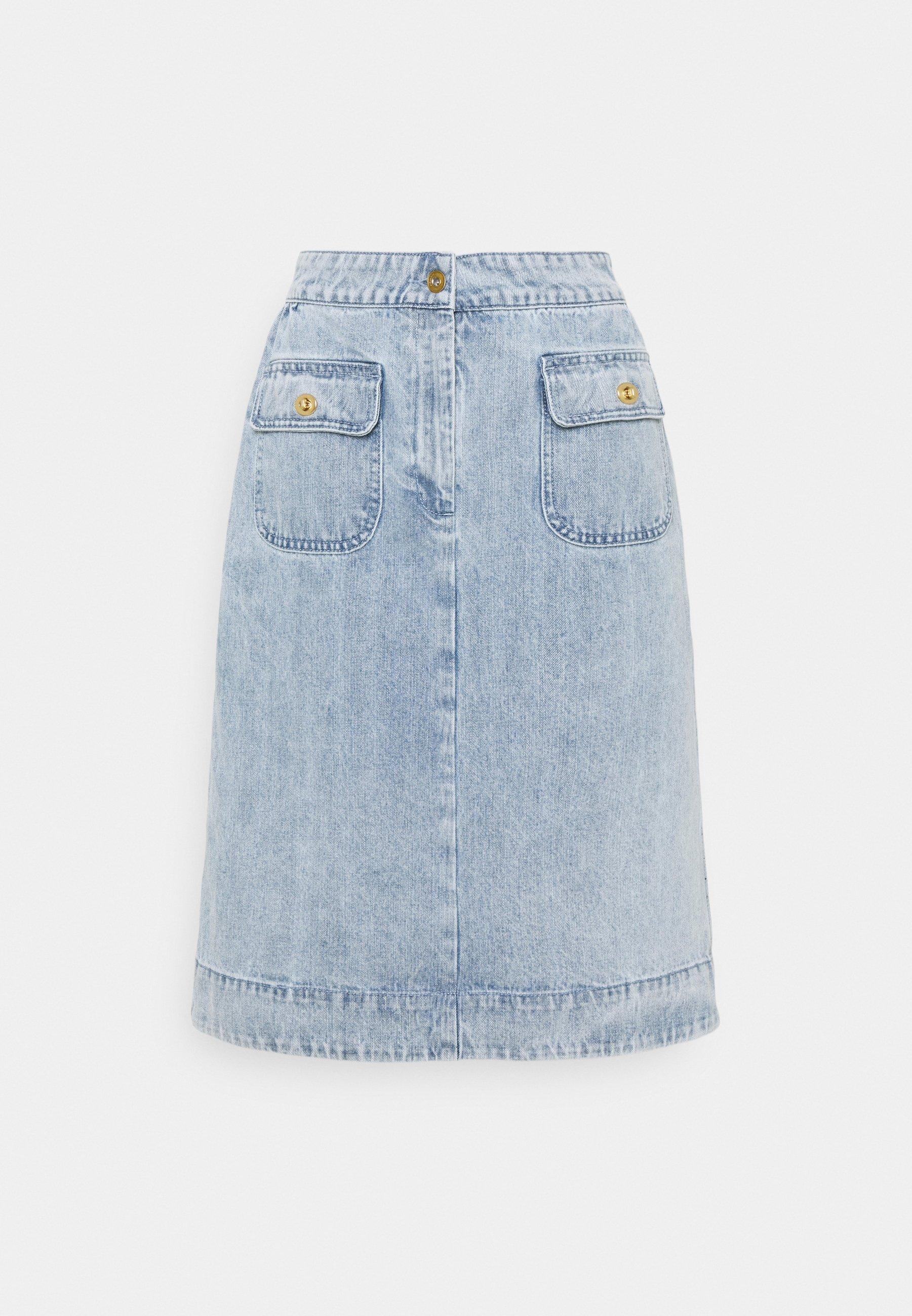 Femme WASHED SKIRT - Jupe en jean