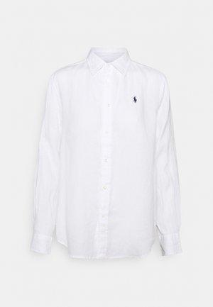 PIECE DYE - Button-down blouse - white