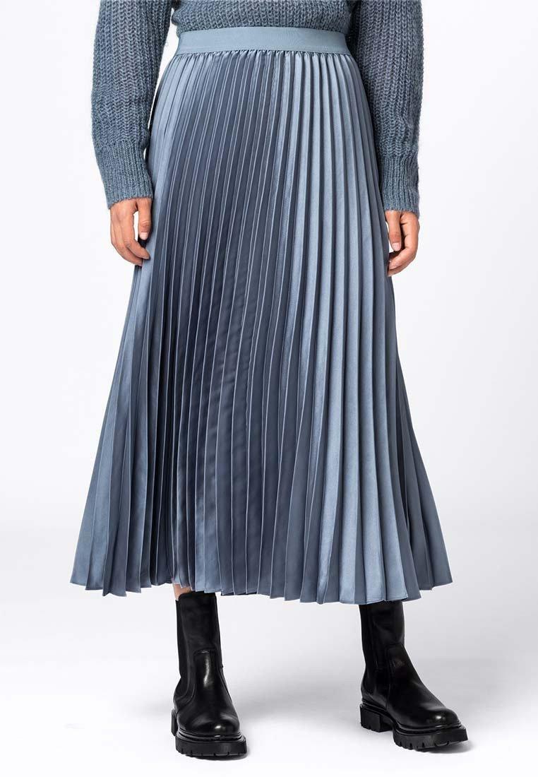 HALLHUBER - A-line skirt - rauchblau