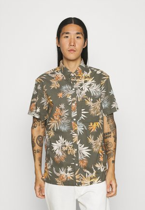 ANGELO TROPICAL STRETCH BLEACH WASH - Overhemd - olive