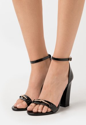 WIDE FIT CHRYSTA - High heeled sandals - black