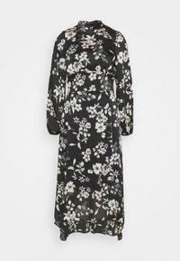 Dorothy Perkins - LARGEFLORAL HEMMIDI DRESS - Kjole - black - 6