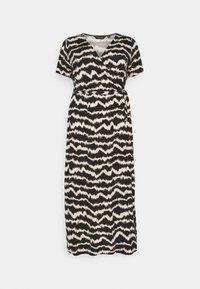 WRAP SPOT  - Maxi dress - black/offwhite