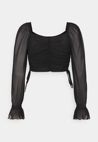 NA-KD - GATHERED - Long sleeved top - black - 1