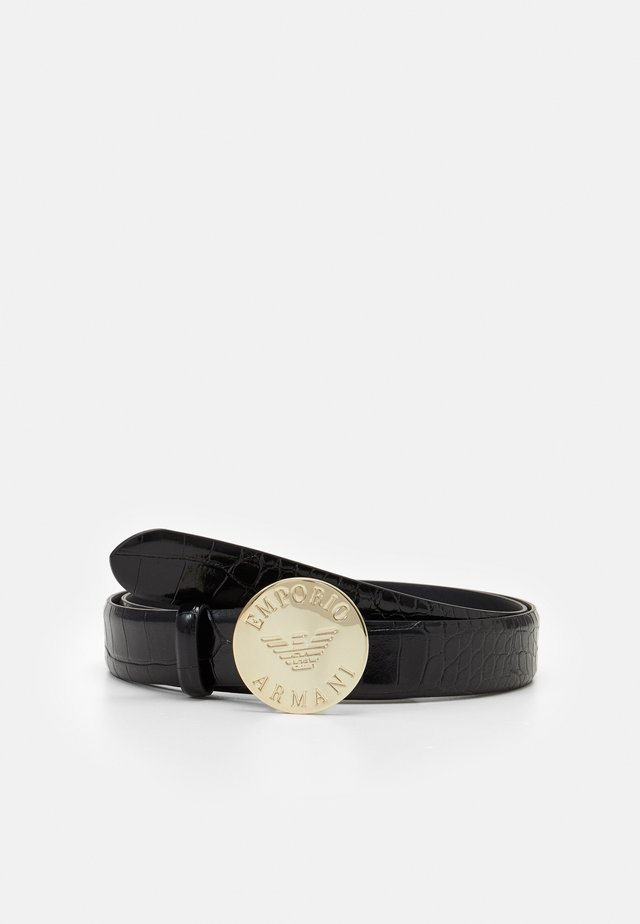 LOGO CROCO TONGUE BELT - Belte - nero/black