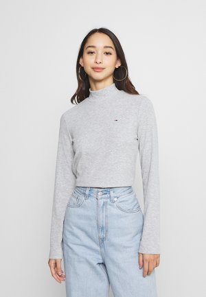 MOCK NECK LONGSLEEVE - Long sleeved top - silver grey heather