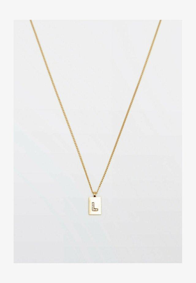 MIT BUCHSTABE L  - Necklace - gold