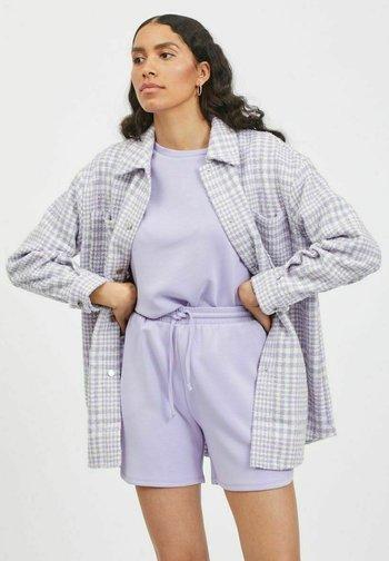 KARIERTES - Summer jacket - lavender