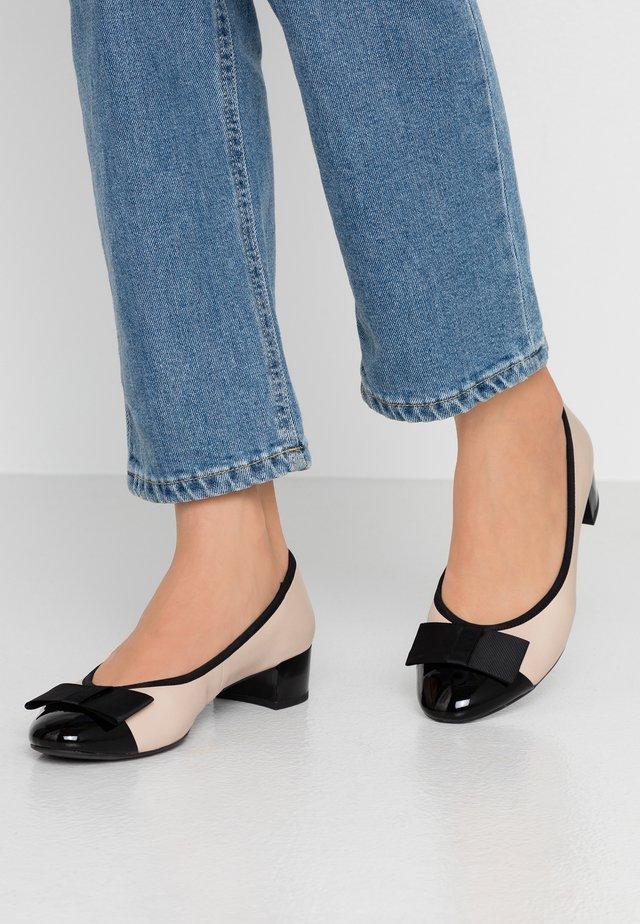 Classic heels - beige/black