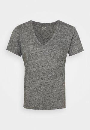 WHISPER V NECK TEE - Basic T-shirt - pewter