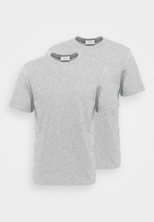 ALLAN 2 PACK  - Jednoduché triko - grey melange