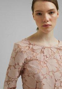 Esprit Collection - LACE SHIRT - Print T-shirt - nude - 6