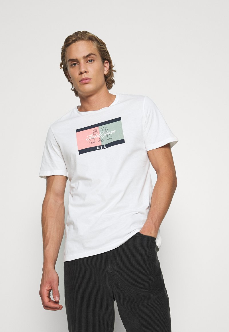 Jack & Jones - JORANTHONY - T-shirt print - cloud dancer