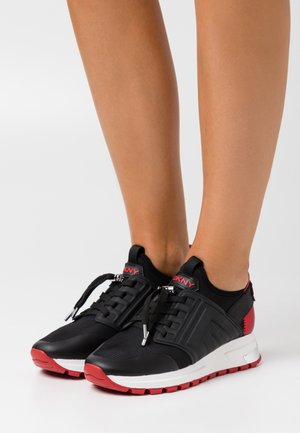 MISTI LACE UP  - Trainers - black/red