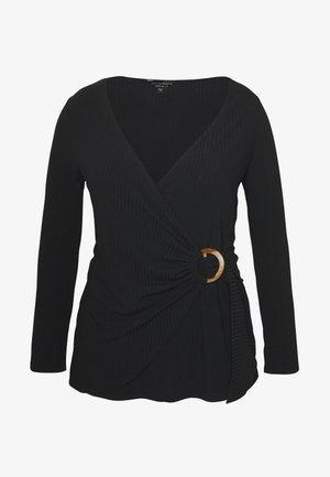 WRAP - Pitkähihainen paita - black